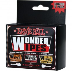 Limpiador Ernie Ball Wonder Wipes Combo Pack