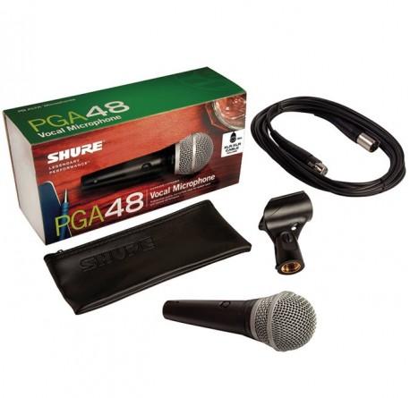 Microfono vocal de mano Shure PGA48 XLR envio gratis