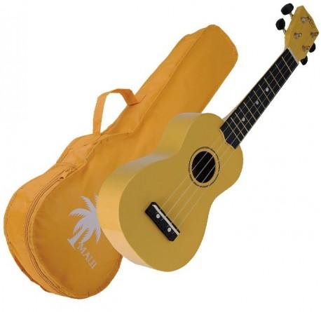 Ukelele Maui MUK10-YW soprano amarillo con funda