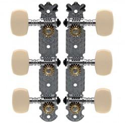 Clavijero para guitarra clásica Soundsation SMH-SS-C-3R3L envio gratis