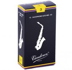 Caja 10 Cañas para saxofon alto Vandoren SR213 en Mib grosor 3 envio gratis