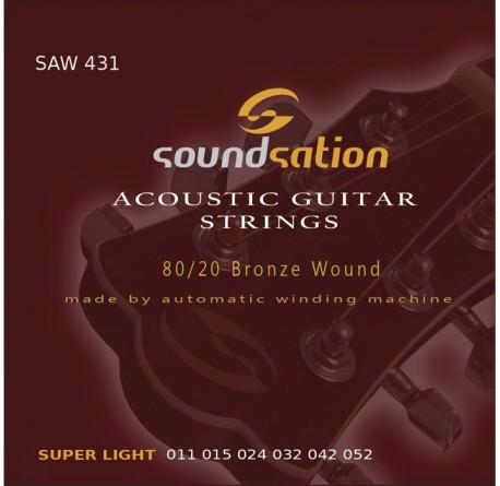 3 packs Cuerdas guitarra acústica Soundsation SAW431 envio gratis