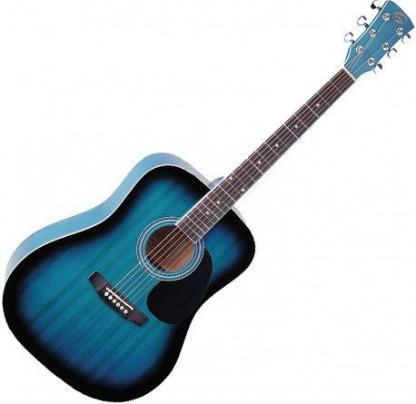 Guitarra acustica Soundsation Yellowstone DN-BLS envío gratis