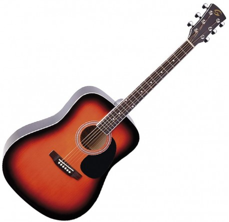 Guitarra acustica Soundsation Yellowstone DN-SB sunburst envío gratis