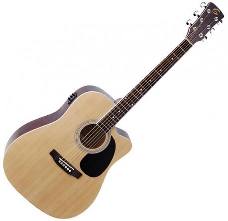 Guitarra electroacustica Soundsation Yellowstone DNCE-NT envio gratis