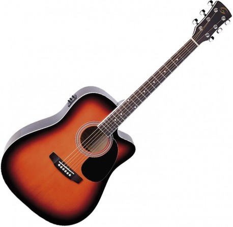 Guitarra electroacustica Soundsation Yellowstone DNCE-BS envio gratis