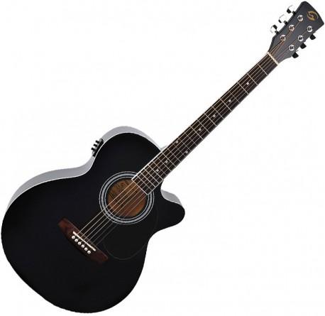 Guitarra electroacustica Soundsation Yellowstone MJCE-BK envio gratis