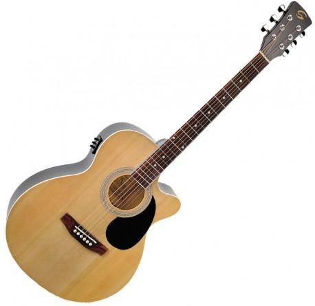 Guitarra electroacustica Soundsation Yellowstone MJCE-NT envio gratis