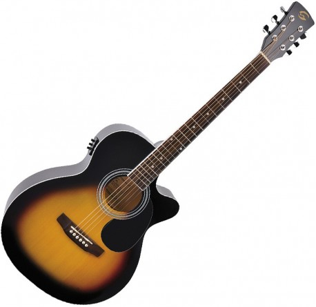 Guitarra electroacustica Soundsation Yellowstone MJCE-SB envio gratis