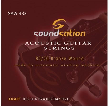 3 packs Cuerdas guitarra acústica Soundsation SAW432 envio gratis