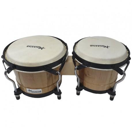 Bongo percusión Rockstar BO650NT natural envío gratis