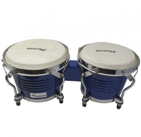 Bongo percusion Rockstar BO708TBL azul envío gratis