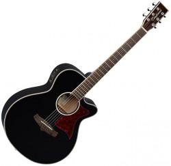 Guitarra electroacústica Tanglewood TW4BS Mini Jumbo color negro translúcido envío gratis