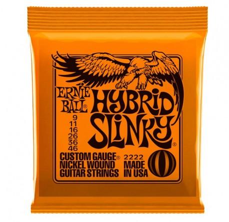Cuerdas guitarra electrica Ernie Ball 2222 Hybrid Slinky envío gratis