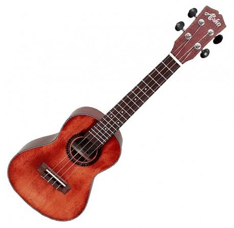 Ukelele Aloha SK-2432-RD concerto color rojo ambar vintage envío gratis