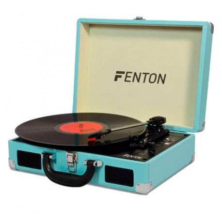 Giradiscos Fenton RP115BL maleta azul tocadiscos bluetooth envío gratis