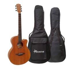 Guitarra acústica forma auditorium Rockstar SA-4022 SN con cutaway cuerdas metálicas y funda envio gratis