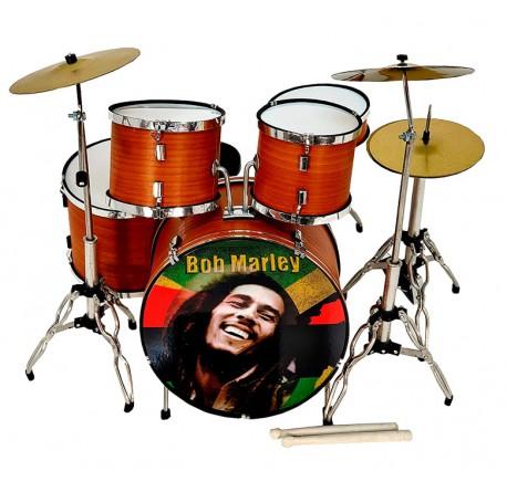 Bateria acustica miniatura MDR-0107 Bob Marley regalo musical envio gratis