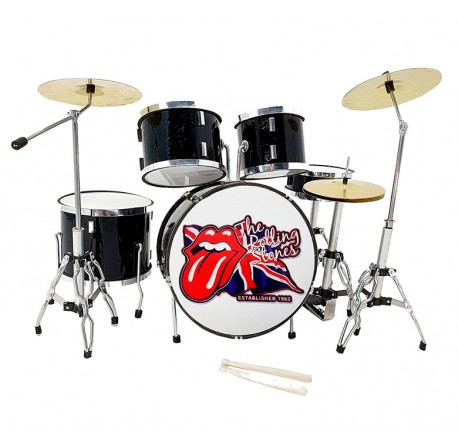 Miniatura bateria acustica MDR-0022 Rolling Stones regalo musical envio gratis