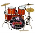 Miniatura bateria acustica MDR-0107 Elvis Presley regalo musical envio gratis