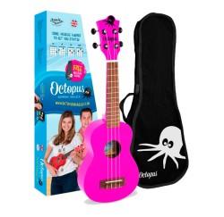 Ukelele Octopus UK-205 PK color rosa fuscia envio gratis