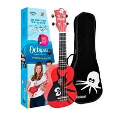 Ukelele Octopus soprano UK205KAR Kane rojo pulpo envio gratis