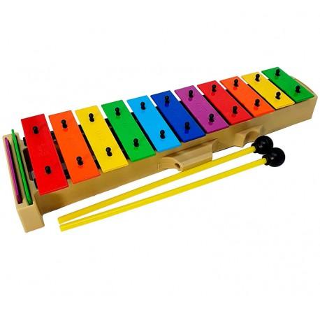 xilofono DEEP DG27N2 cromático, 13 teclas colores y mazas envio gratis