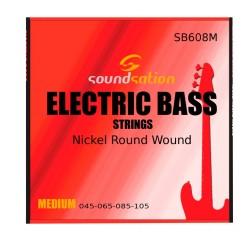 SOUNDSATION SB608M Cuerdas para bajo electrico calibre 45-105 medio, acero inoxidable