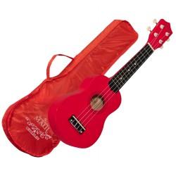 Ukelele soprano Maui Sunny 10RD color rojo con funda envio gratis
