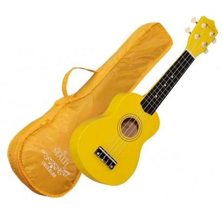 Ukelele soprano Maui Sunny 10Yw color amarillo con funda envio gratis