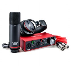 Set de interfaz de audio Focusrite Scarlett 2i2 studio 3rd envio gratis